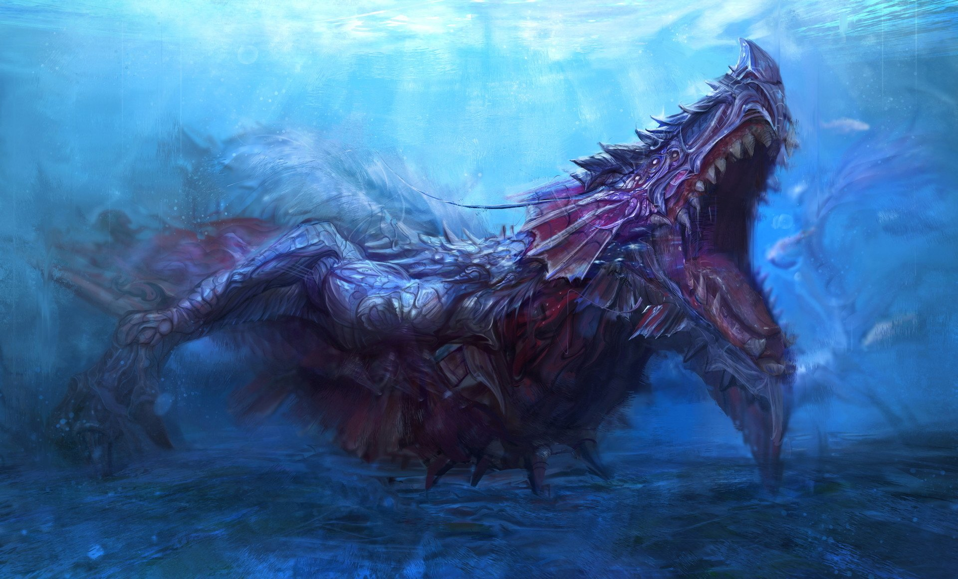 sea monster hd wallpaper background image 1920x1162
