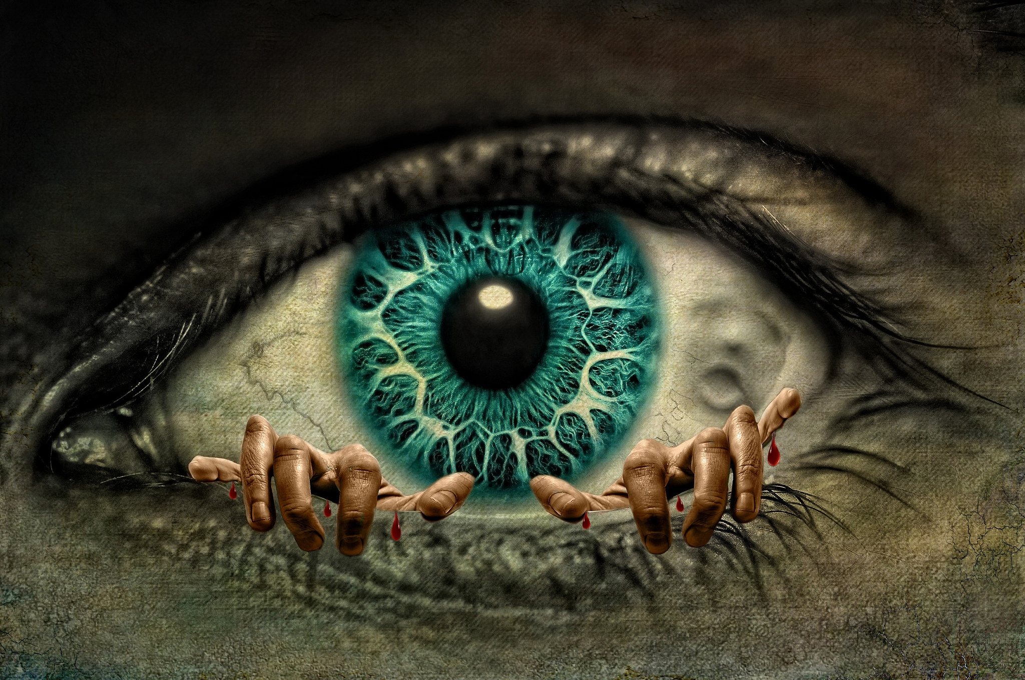 Creepy Eye Hd Wallpaper Background Image 2048x1359 Id 878447 Wallpaper Abyss