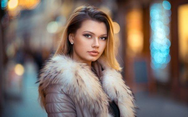 Women Model Models Depth Of Field Hazel Eyes Bokeh Brunette HD Wallpaper | Background Image