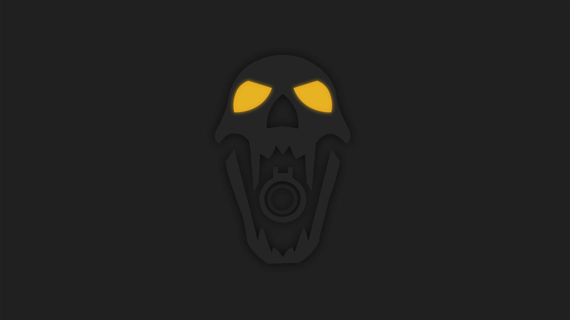 Video Game - Tom Clancy's Rainbow Six: Siege  Minimalist Blackbeard (Tom Clancy's Rainbow Six: Siege) Yellow Eyes Skull Wallpaper