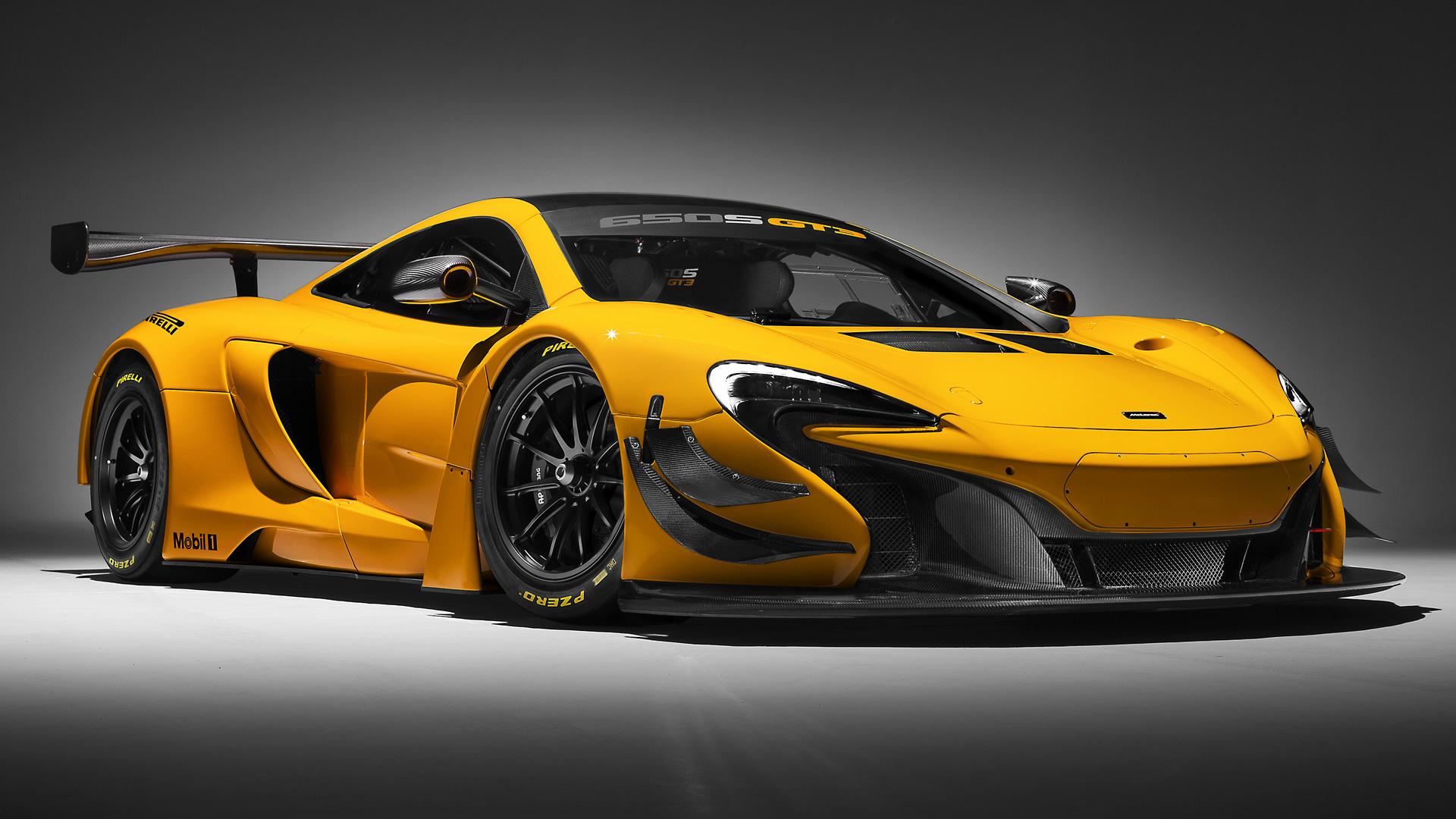Vehicles   McLaren 650S GT3 Race Car Sport Car Racing Yellow Car Wallpaper