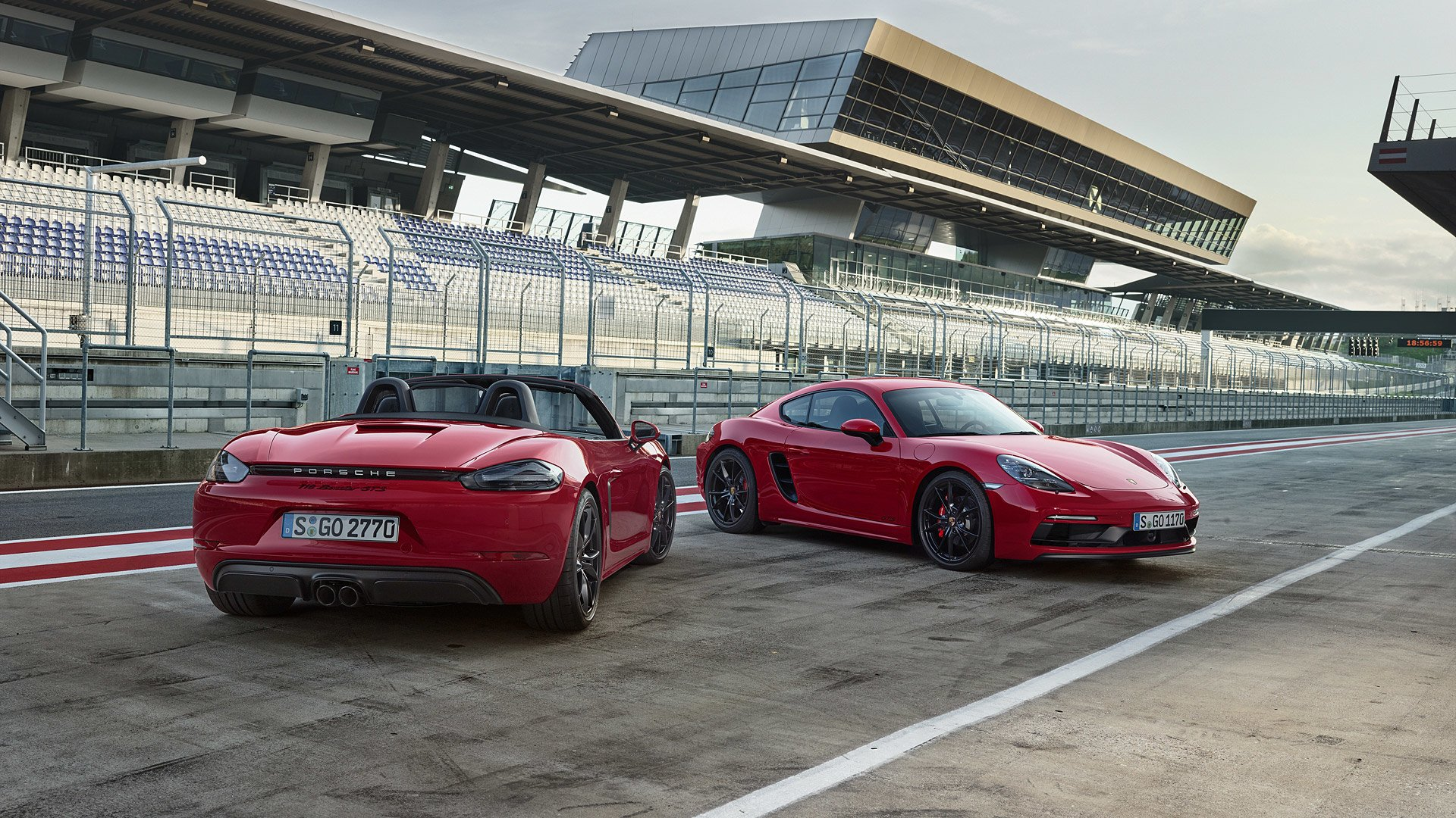 2018 Porsche 718 Cayman Gts And 718 Boxster Gts Hd Wallpaper Background Image 1920x1080 Id 880933 Wallpaper Abyss