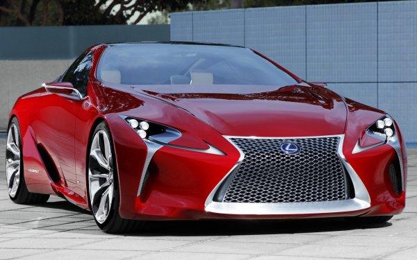 Véhicules Lexus LF-LC Lexus Luxury Car Concept Car Coupé Red Car Fond d'écran HD | Image