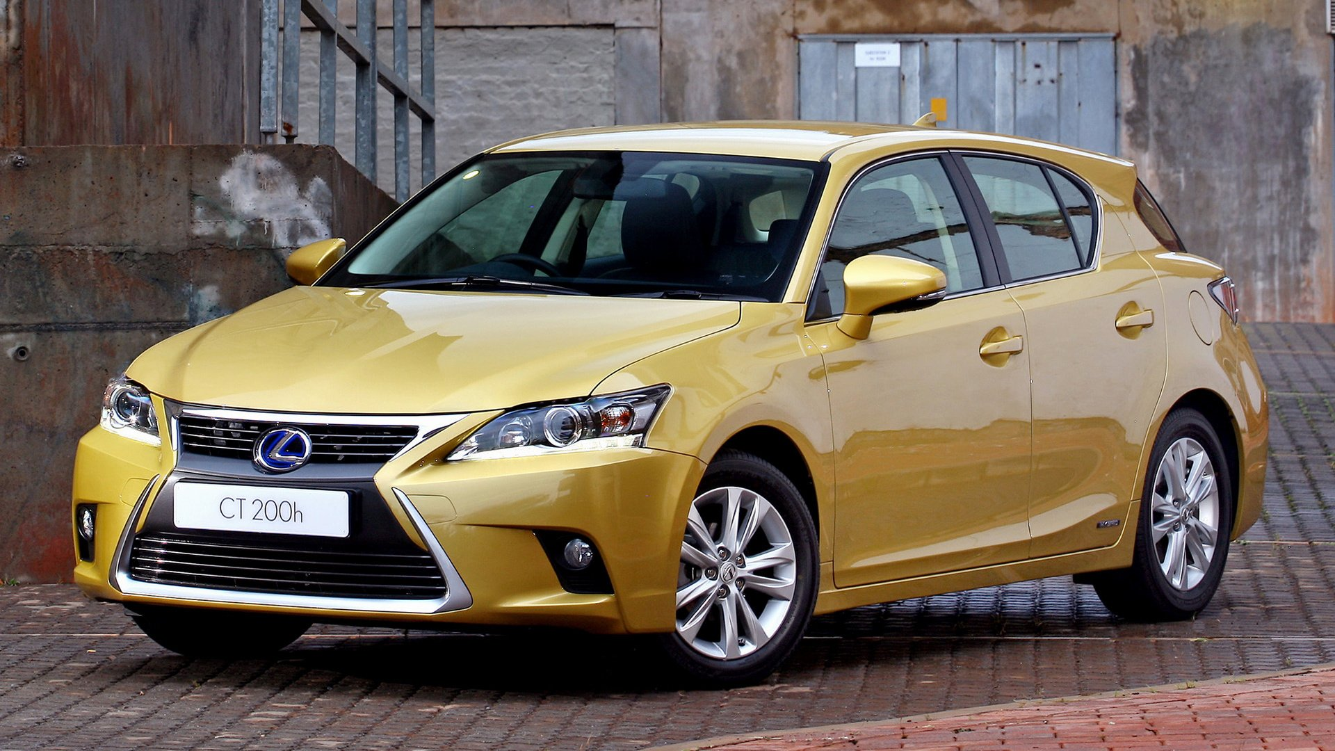 Vehicles - Lexus CT 200H  Hybrid Car Electric Car Compact Car Hatchback Yellow Car Wallpaper