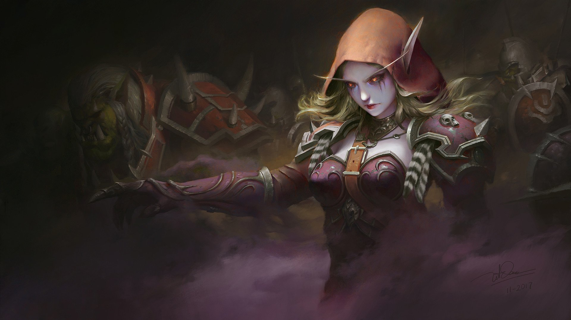 Video Game - World Of Warcraft  Warcraft Sylvanas Windrunner Elf Woman Warrior Pointed Ears Wallpaper