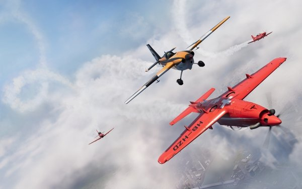 Video Game The Crew 2 Biplane Aircraft Racing Sky Cloud HD Wallpaper   Background Image