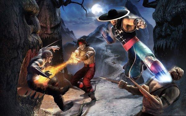 Video Game Mortal Kombat: Shaolin Monks Mortal Kombat Night Moon Liu Kang Kung Lao HD Wallpaper | Background Image