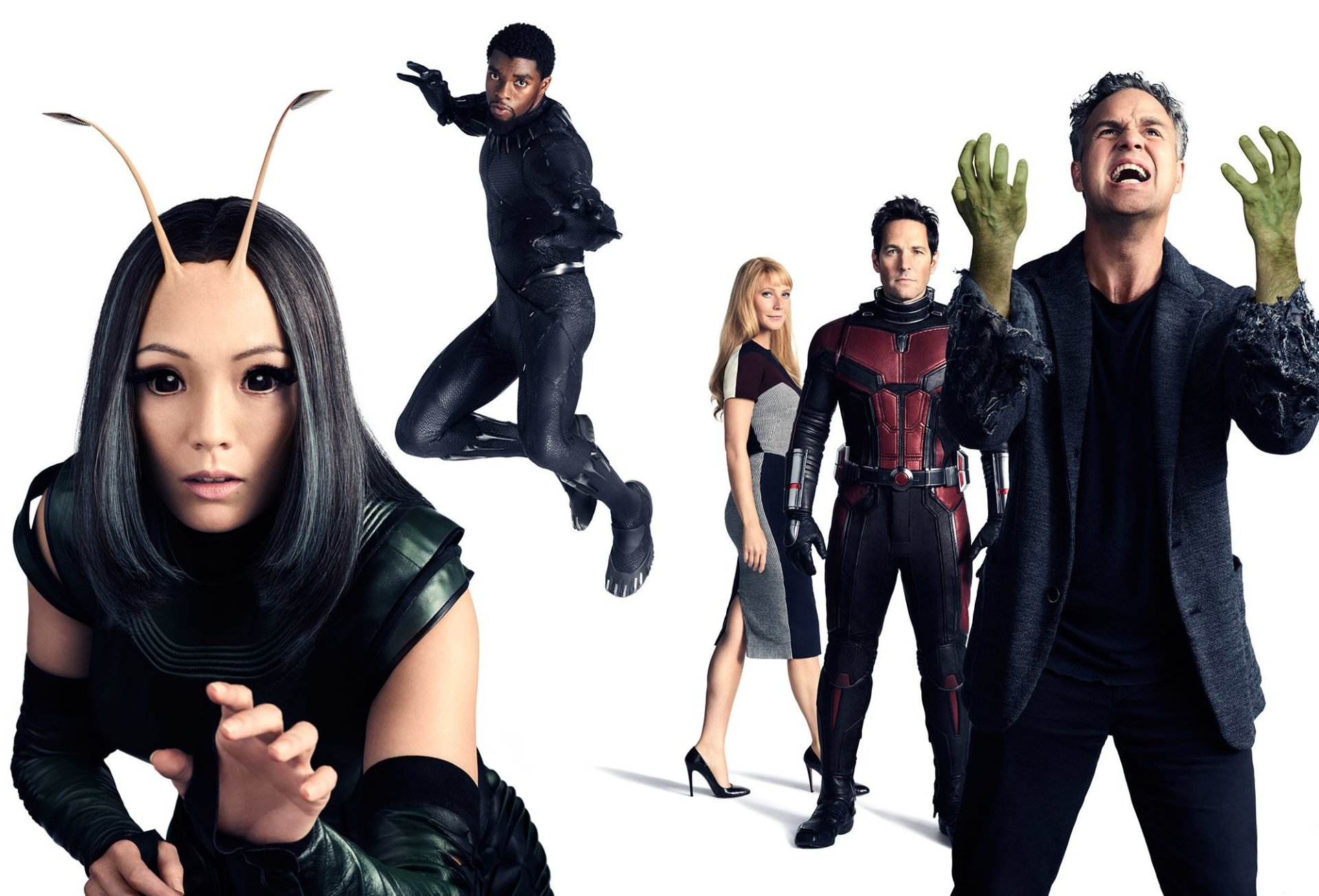 Movie - Avengers: Infinity War  Black Panther (Marvel Comics) Chadwick Boseman Hulk Mantis (Marvel Comics) Mark Ruffalo Ant-Man Paul Rudd Pom Klementieff Gwyneth Paltrow Pepper Potts Bruce Banner Wallpaper