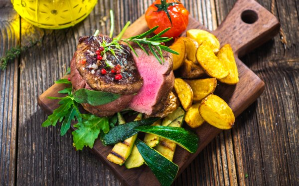 Food Meal Meat Still Life Potato HD Wallpaper | Background Image