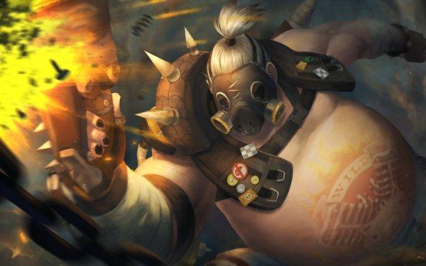 Video Game Overwatch Roadhog Warrior HD Wallpaper   Background Image