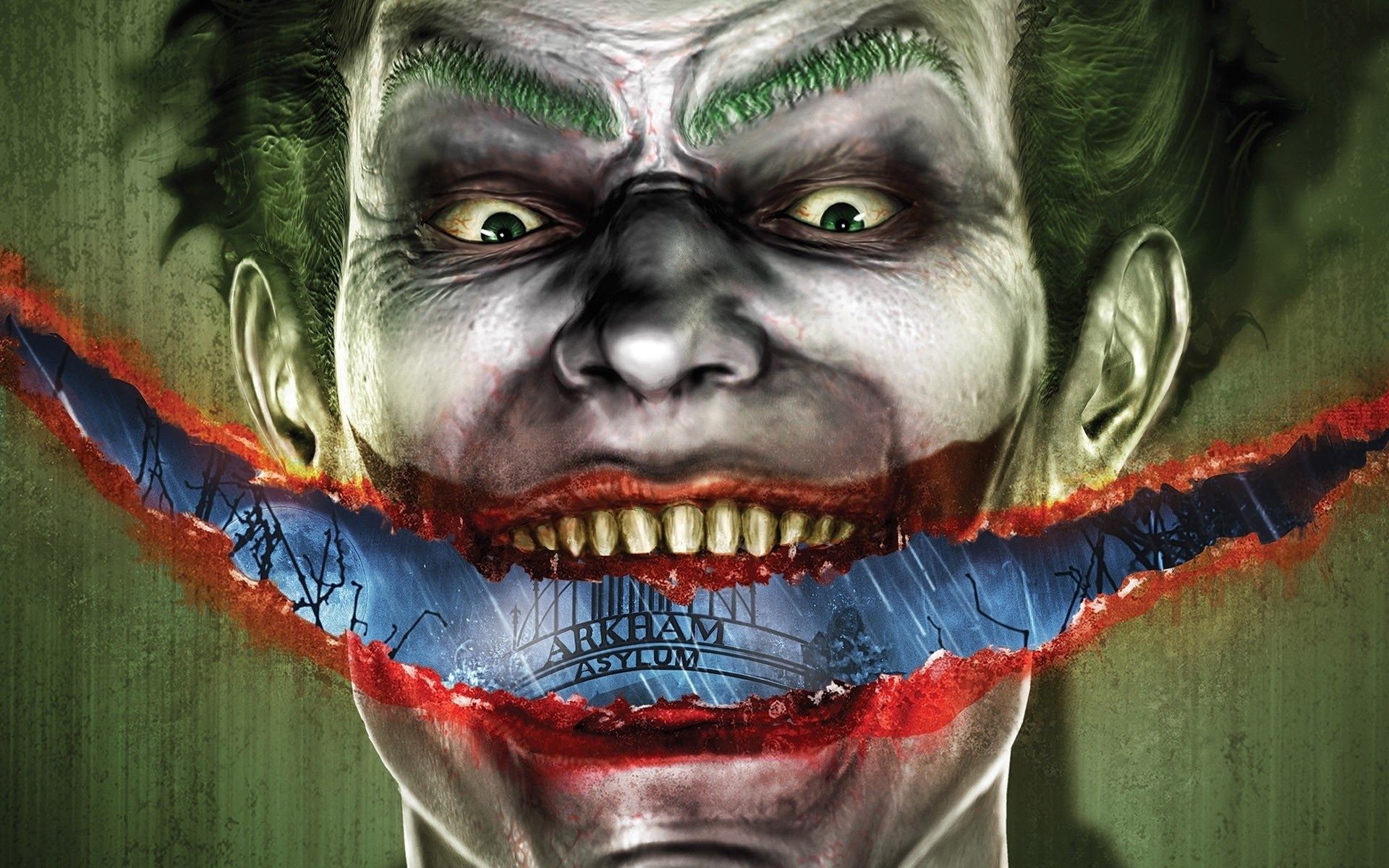 Video Game - Batman: Arkham Asylum  Joker Creepy Wallpaper