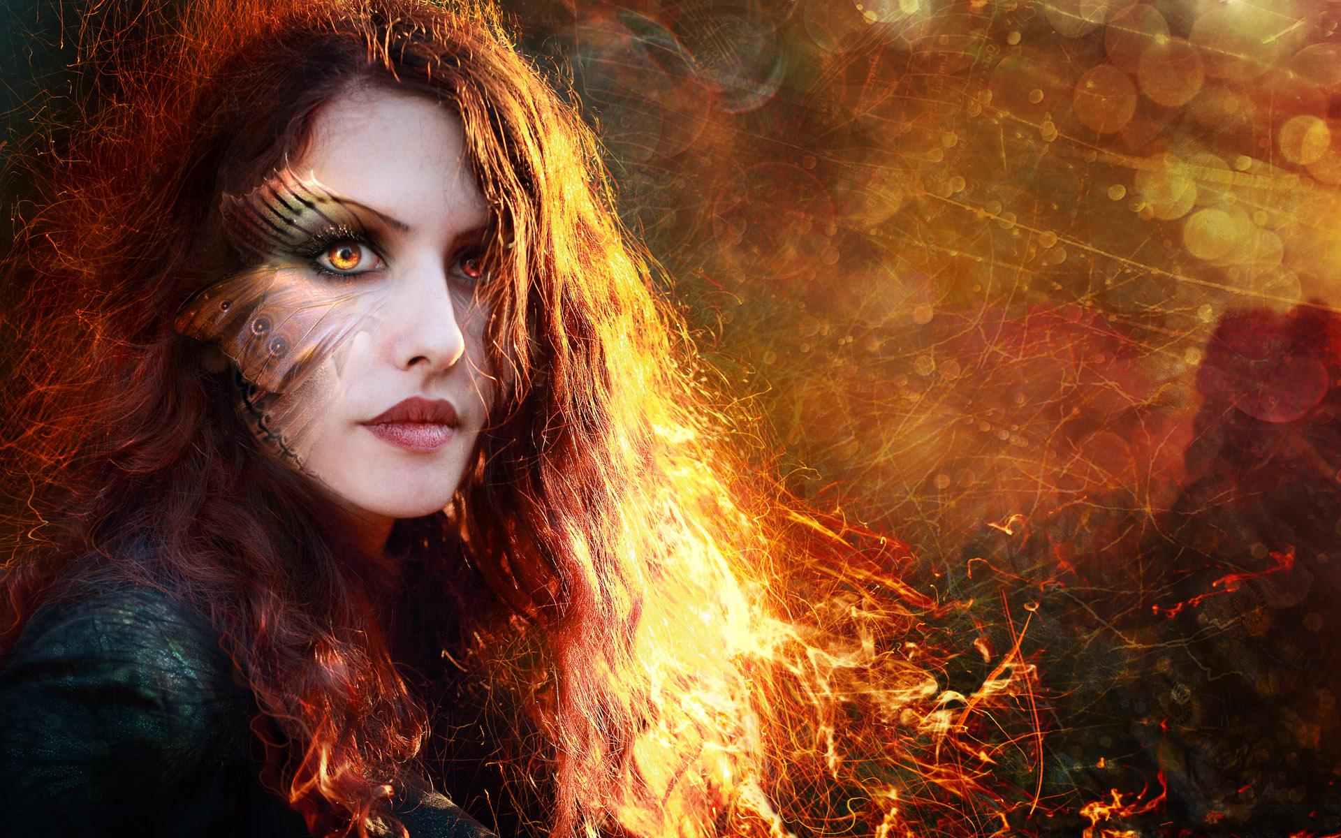 Artistic - Women  Beautiful Manipulation Makeup Model Wallpaper