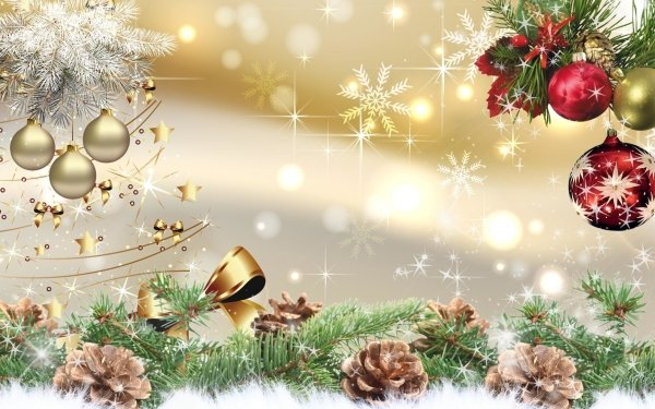 Holiday Christmas Decoration Pine Cone Bauble Snowflake HD Wallpaper   Background Image