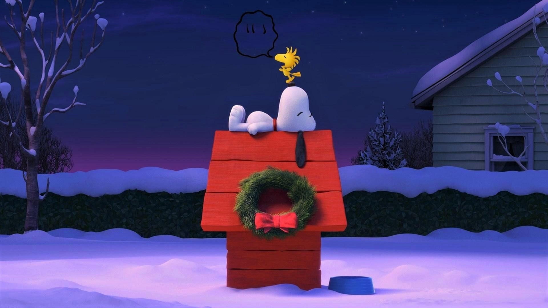 snoopy at christmastime full hd wallpaper and hintergrund. Black Bedroom Furniture Sets. Home Design Ideas