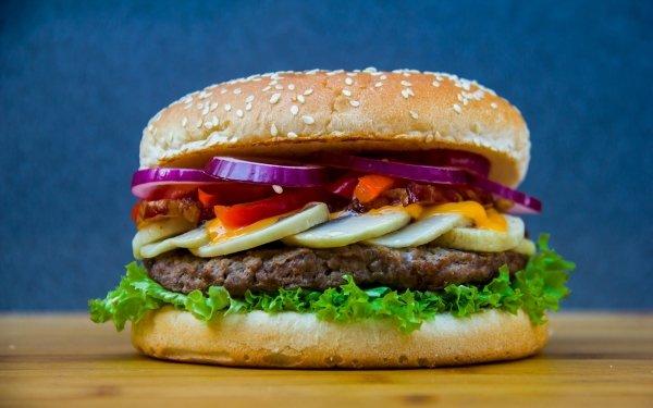 Food Burger Lunch Hamburger Meal HD Wallpaper | Background Image
