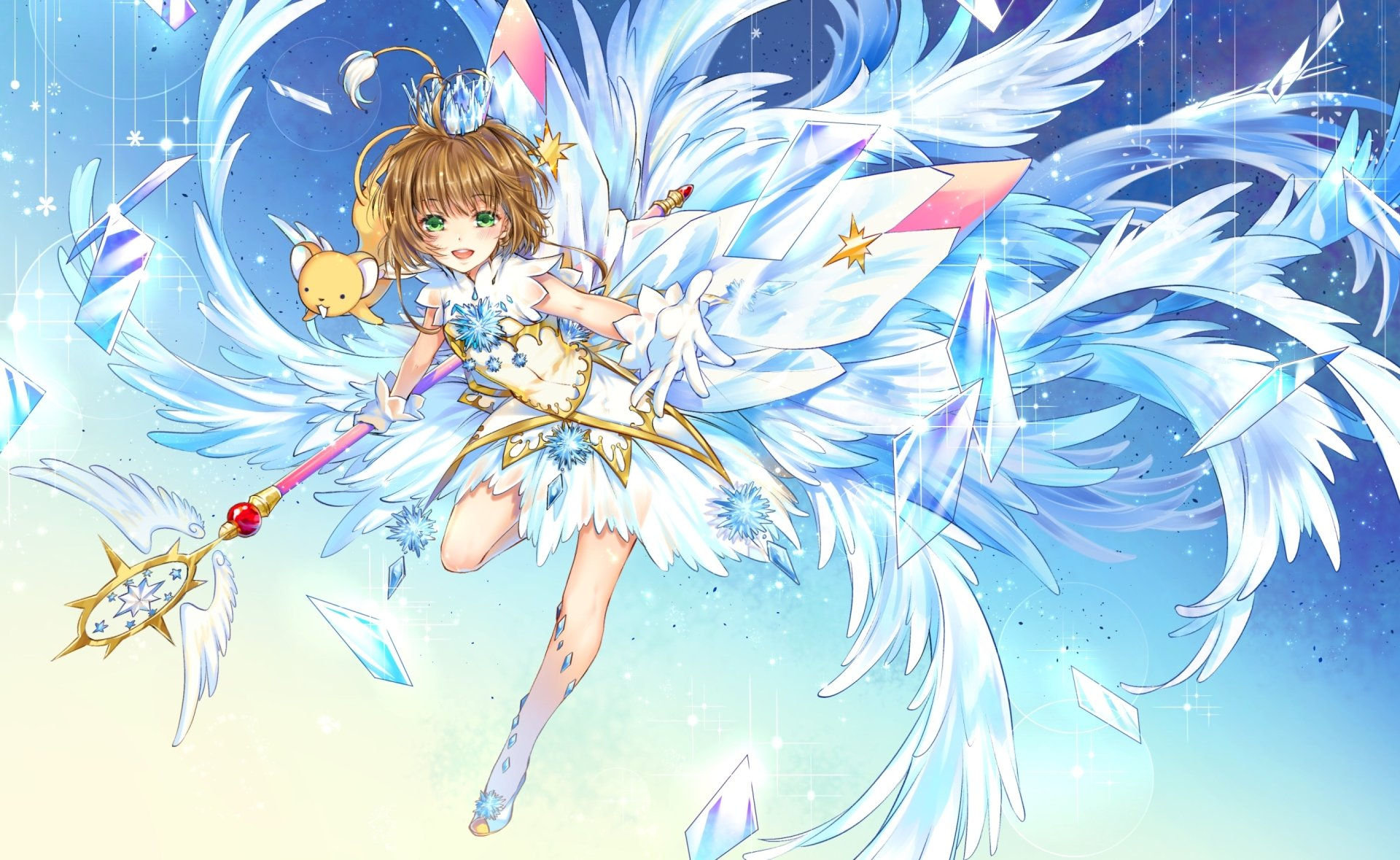 Anime - Cardcaptor Sakura  Anime Girl Crown Sakura Kinomoto Keroberos (Card Captor Sakura) Wallpaper