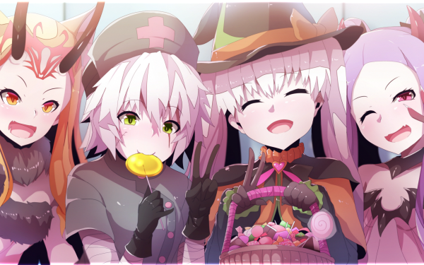 Anime Fate/Grand Order Fate Series Jack the Ripper Nursery Rhyme Ibaraki Douji Wu Zetian HD Wallpaper | Background Image