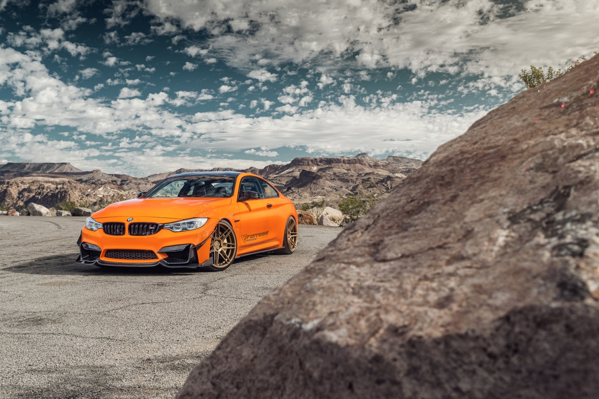 Vehicles - BMW M4  BMW Car Vehicle Sport Car Orange Car Wallpaper