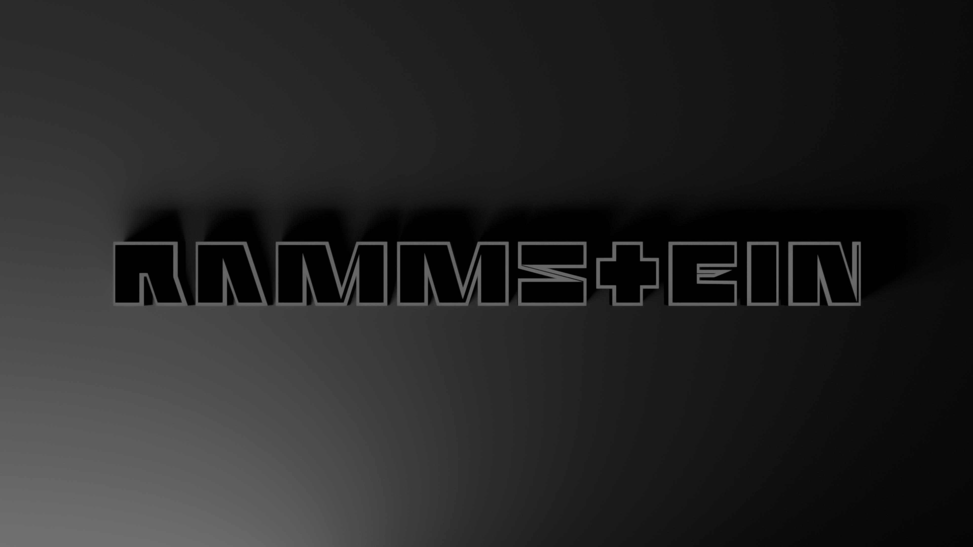 Rammstein Name Logo 4k Ultra HD Wallpaper