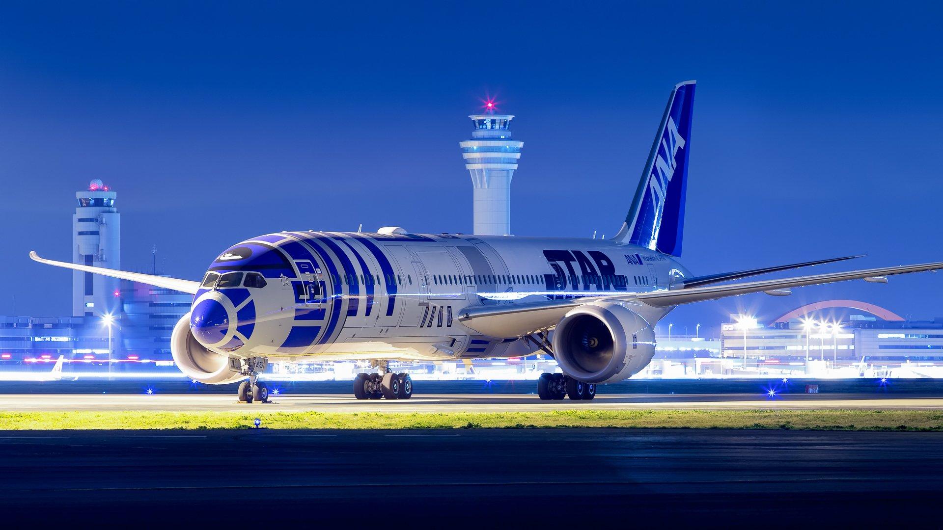 Ana Boeing 787 9 Dreamliner R2d2 Star Wars Livery Ja873a