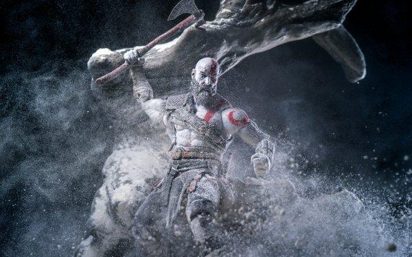 Video Game God of War (2018) God of War Kratos Figurine HD Wallpaper | Background Image