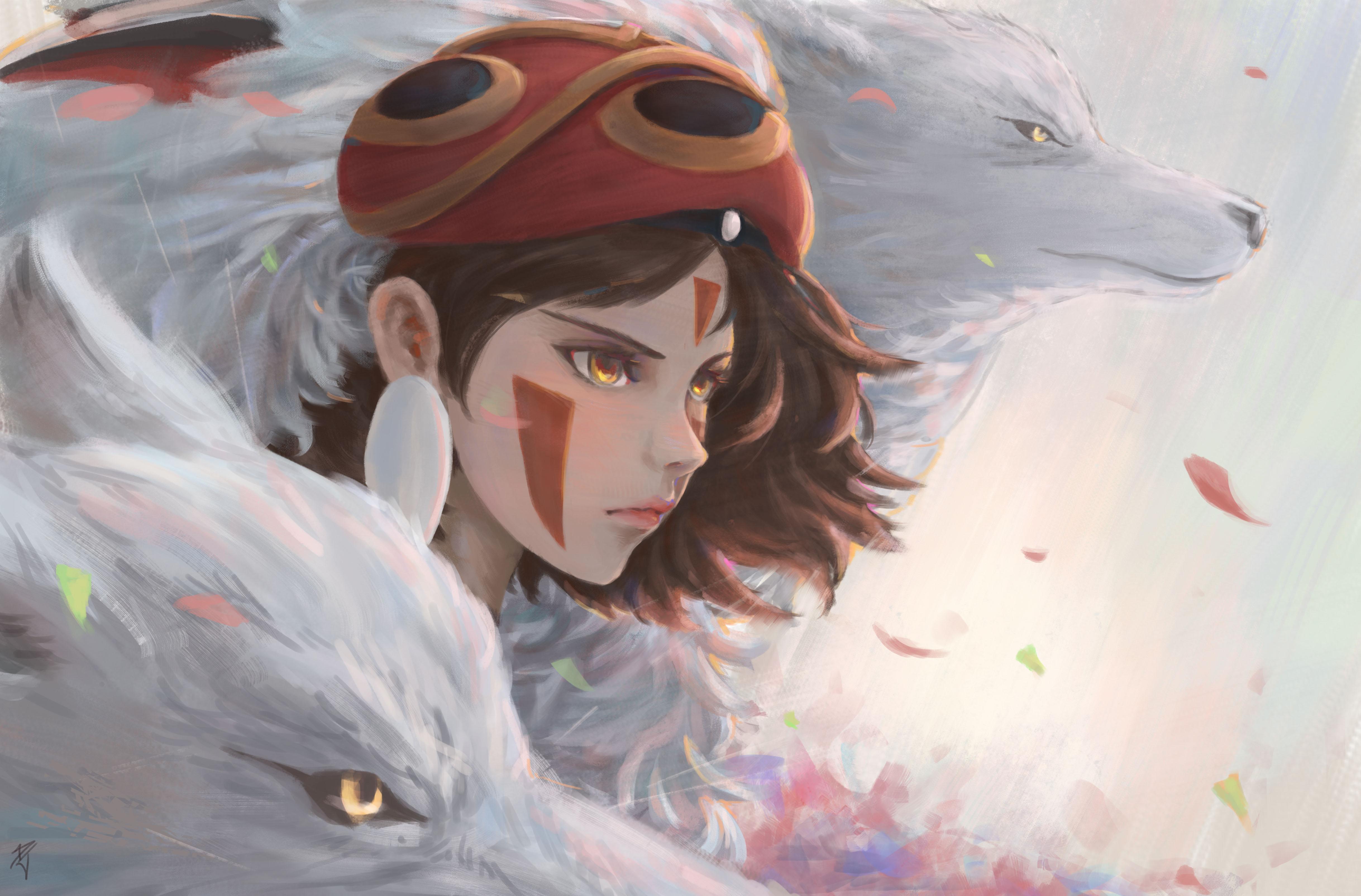 Princess mononoke 4k ultra hd wallpaper background image - Mononoke anime wallpaper ...