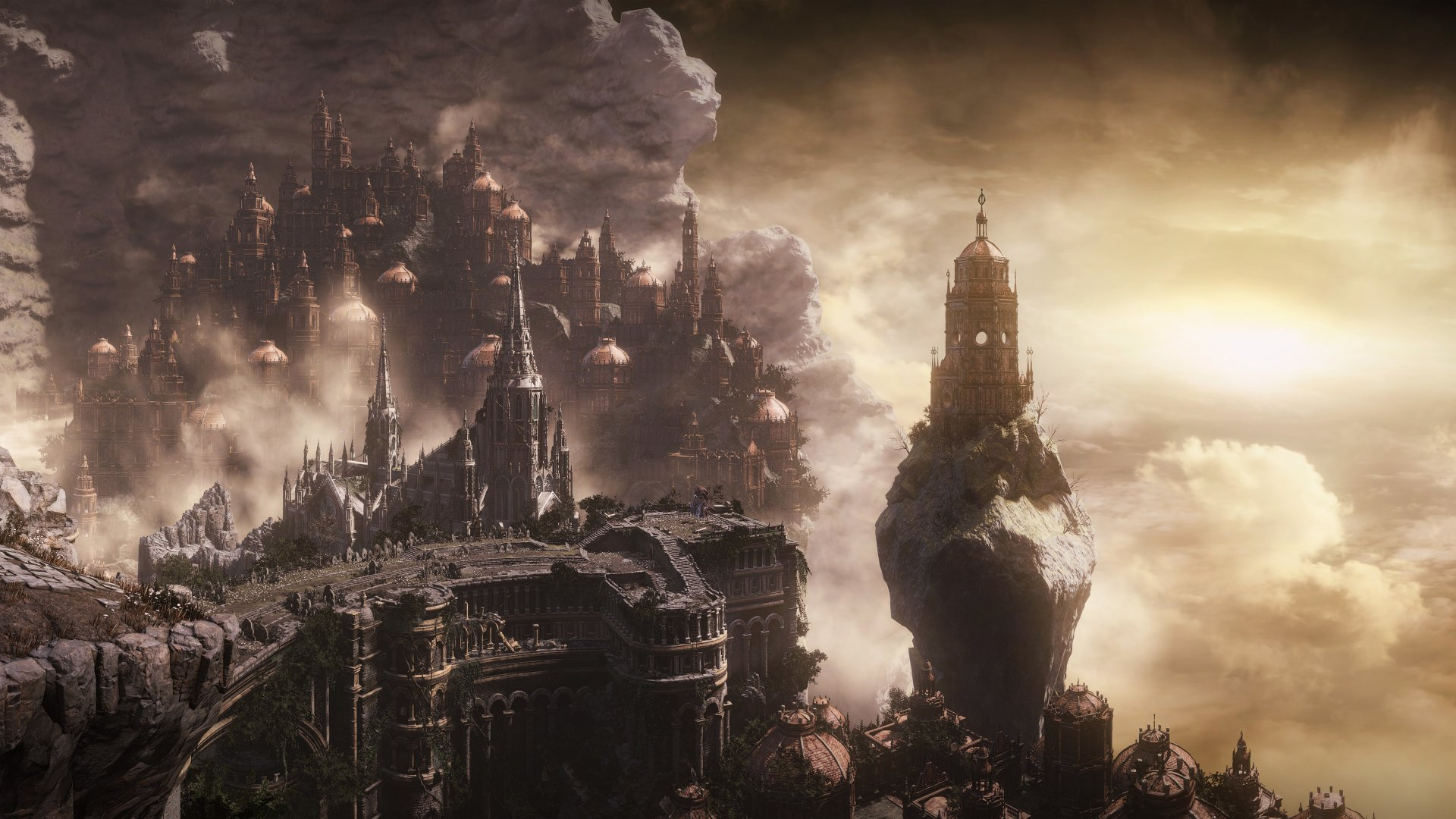 电子游戏 - 黑暗之魂3  城市 奇幻 壁纸