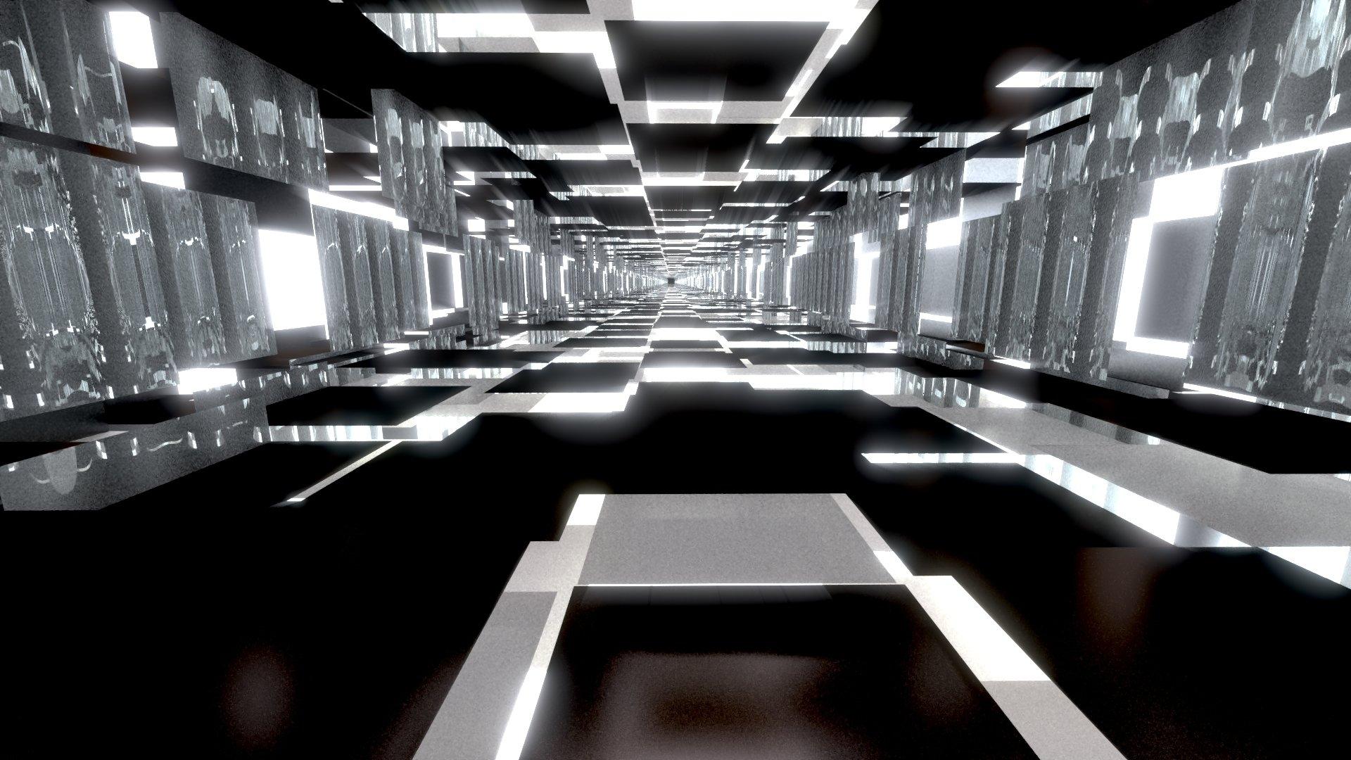 Black And White Tunnels Papel De Parede Hd Plano De Fundo