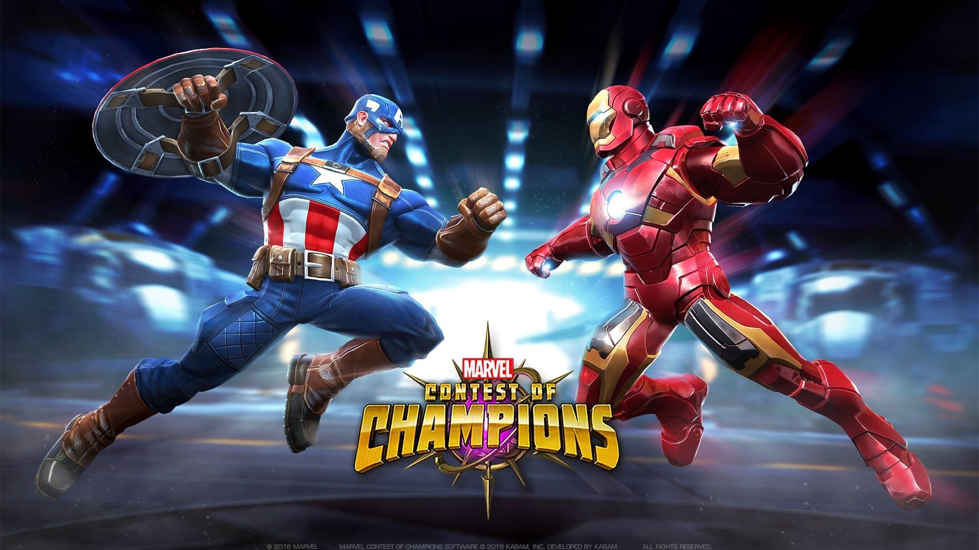 Video Game - MARVEL Contest of Champions  Captain America Iron Man Wallpaper
