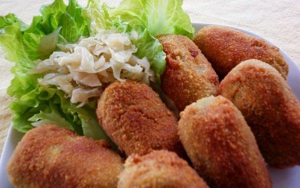 Alimento Croquette Ensalada Lettuce Fondo de pantalla HD | Fondo de Escritorio