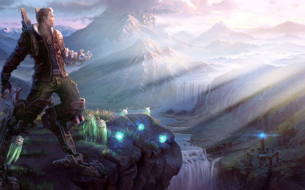 Video Game Valley HD Wallpaper   Background Image