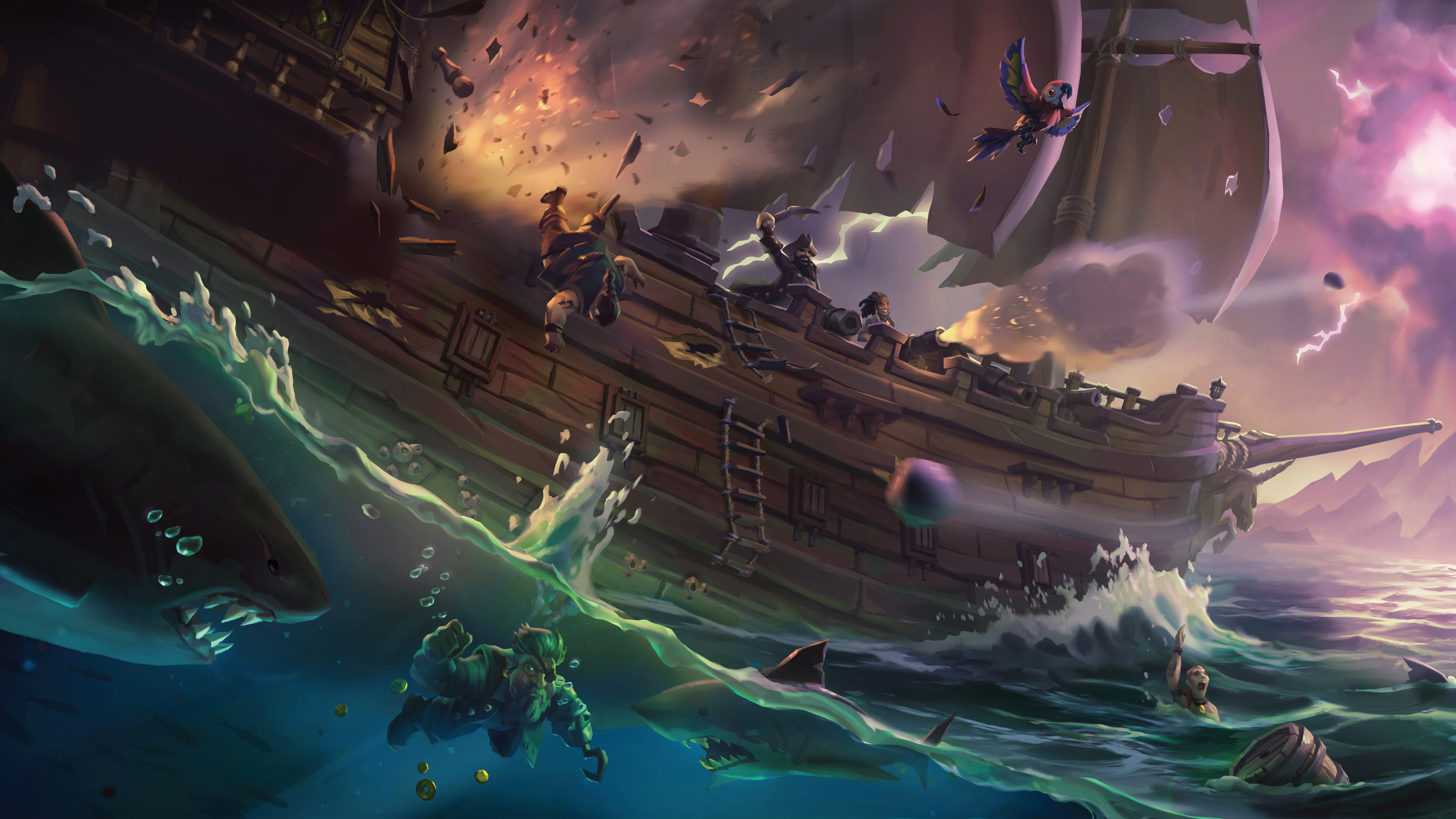 28 Sea Of Thieves Hd Wallpapers Background Images Wallpaper Abyss