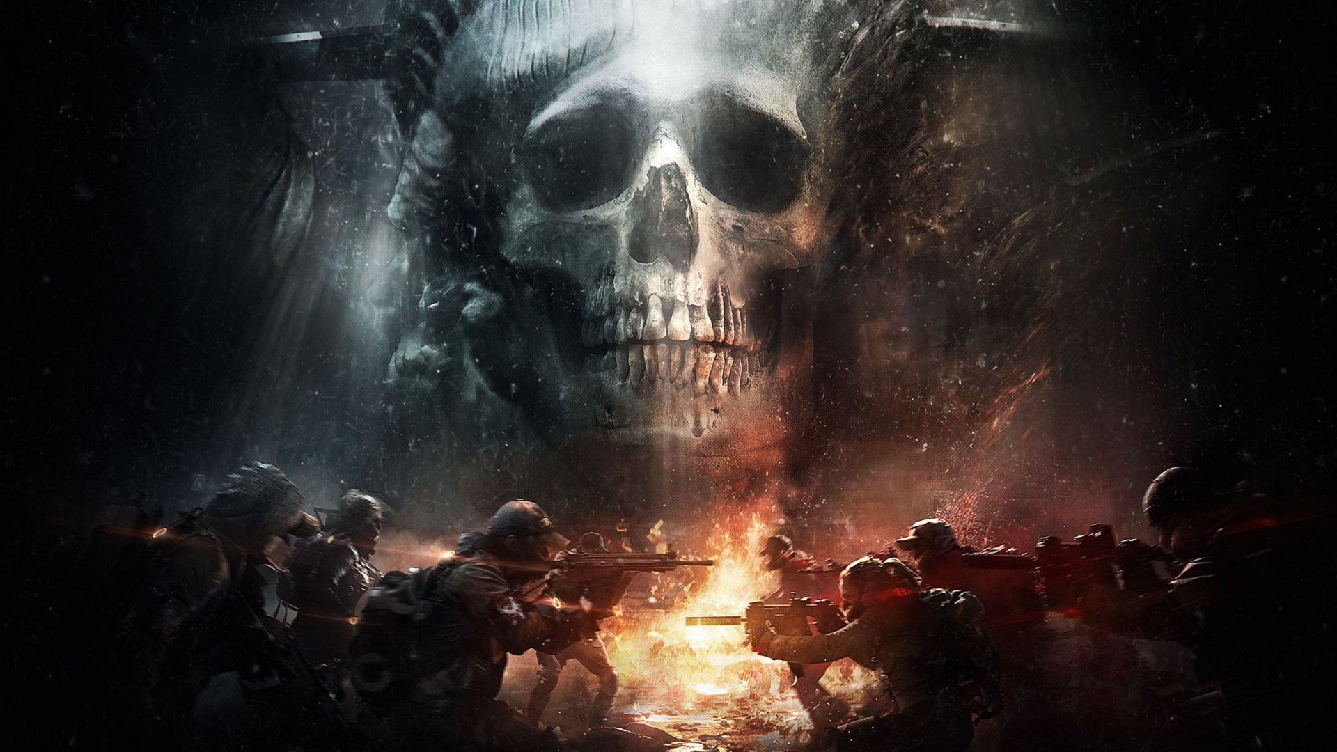 Video Game - Tom Clancy's The Division  Soldier Skull Gun Wallpaper