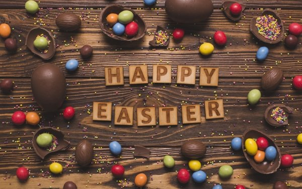 Holiday Easter Happy Easter Chocolate Still Life Candy Sweets HD Wallpaper   Background Image