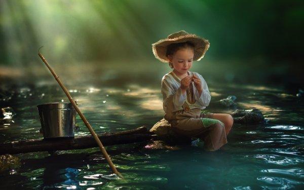 Photography Child Little Girl Sunbeam Hat HD Wallpaper | Background Image