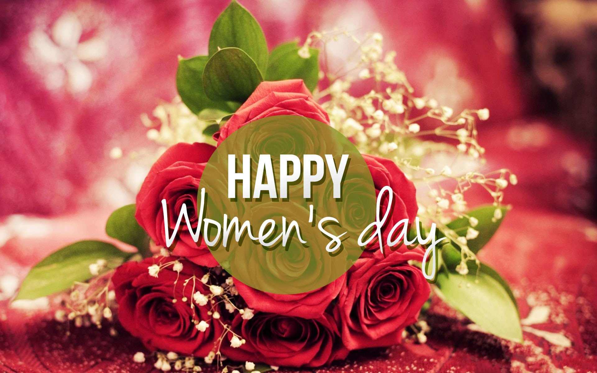 Holiday - Women's Day  Statement Bouquet Rose Flower Wallpaper