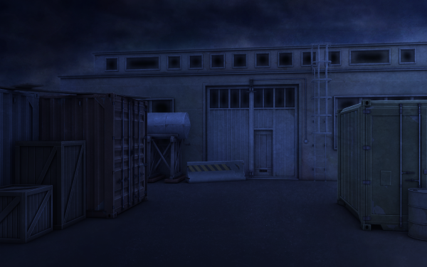 Anime Original Dock Container Night HD Wallpaper | Background Image
