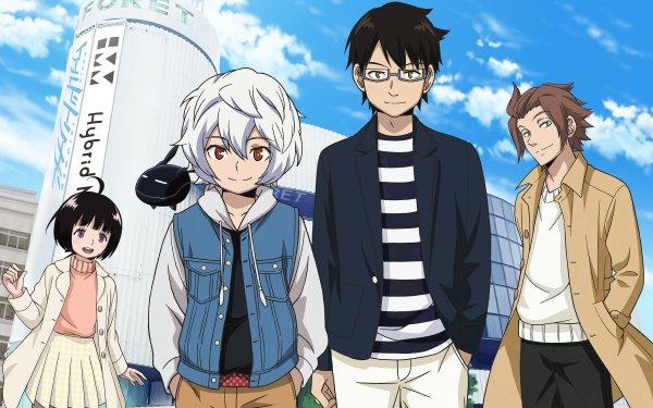 Anime World Trigger Replica Chika Amatori Yūma Kuga Yūichi Jin Osamu Mikumo Fondo de pantalla HD | Fondo de Escritorio