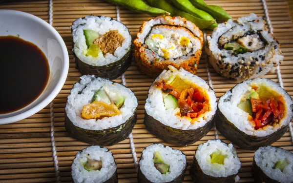 Food Sushi Seafood Rice Still Life HD Wallpaper   Background Image
