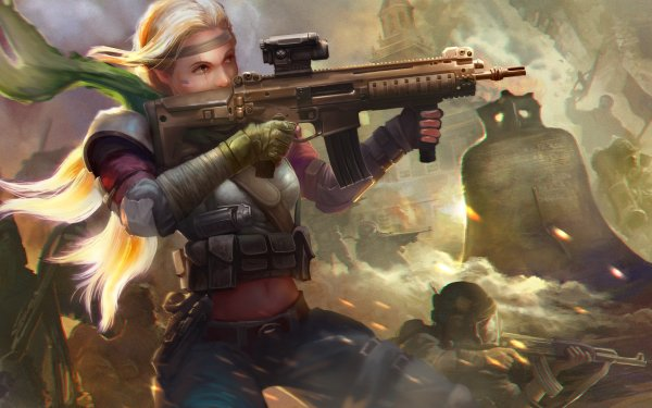 Video Game Homefront: The Revolution Woman Warrior Assault Rifle Weapon Blonde Long Hair HD Wallpaper   Background Image