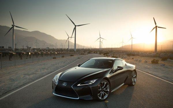 Véhicules Lexus LC 500 Lexus Voiture Black Car Luxury Car Eolienne Fond d'écran HD | Arrière-Plan