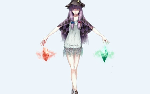 Anime Touhou Patchouli Knowledge HD Wallpaper   Background Image