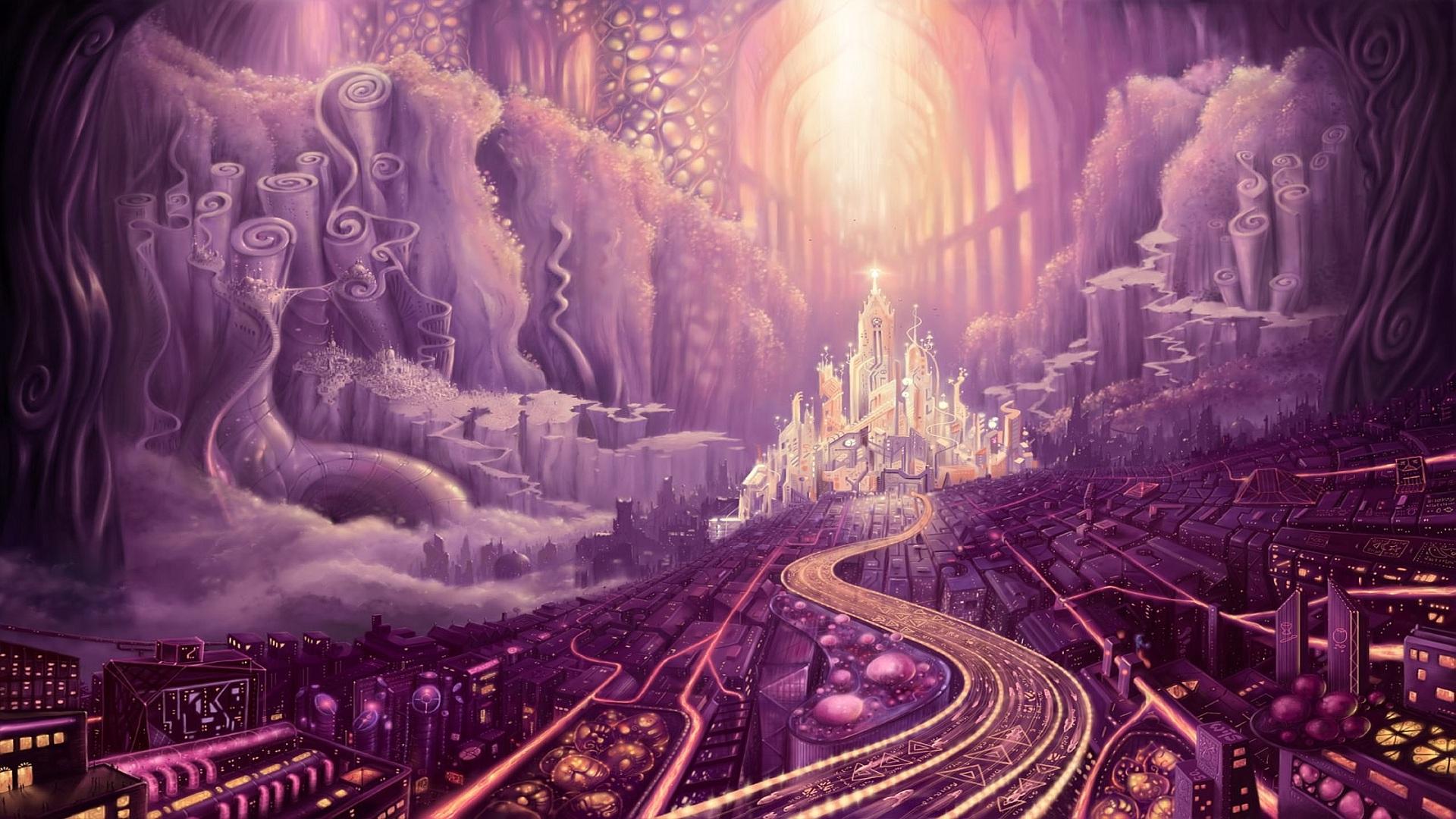 pink wallpaper city hd -#main