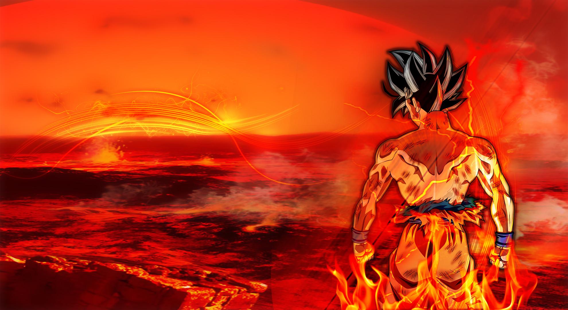 Goku On Fire HD Wallpaper   Background Image   1980x1080 ...