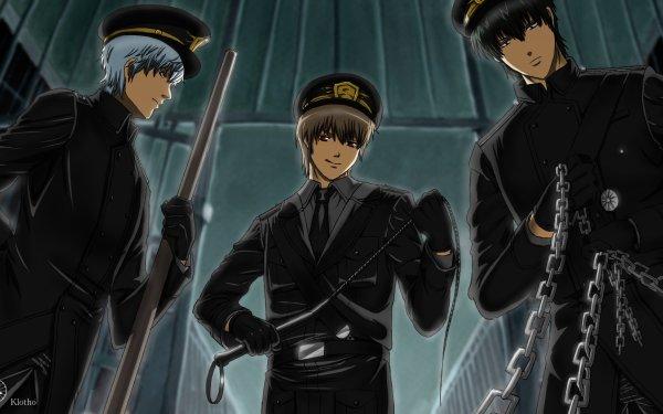 Anime Gintama Gintoki Sakata Toushirou Hijikata Okita Sougo HD Wallpaper | Background Image