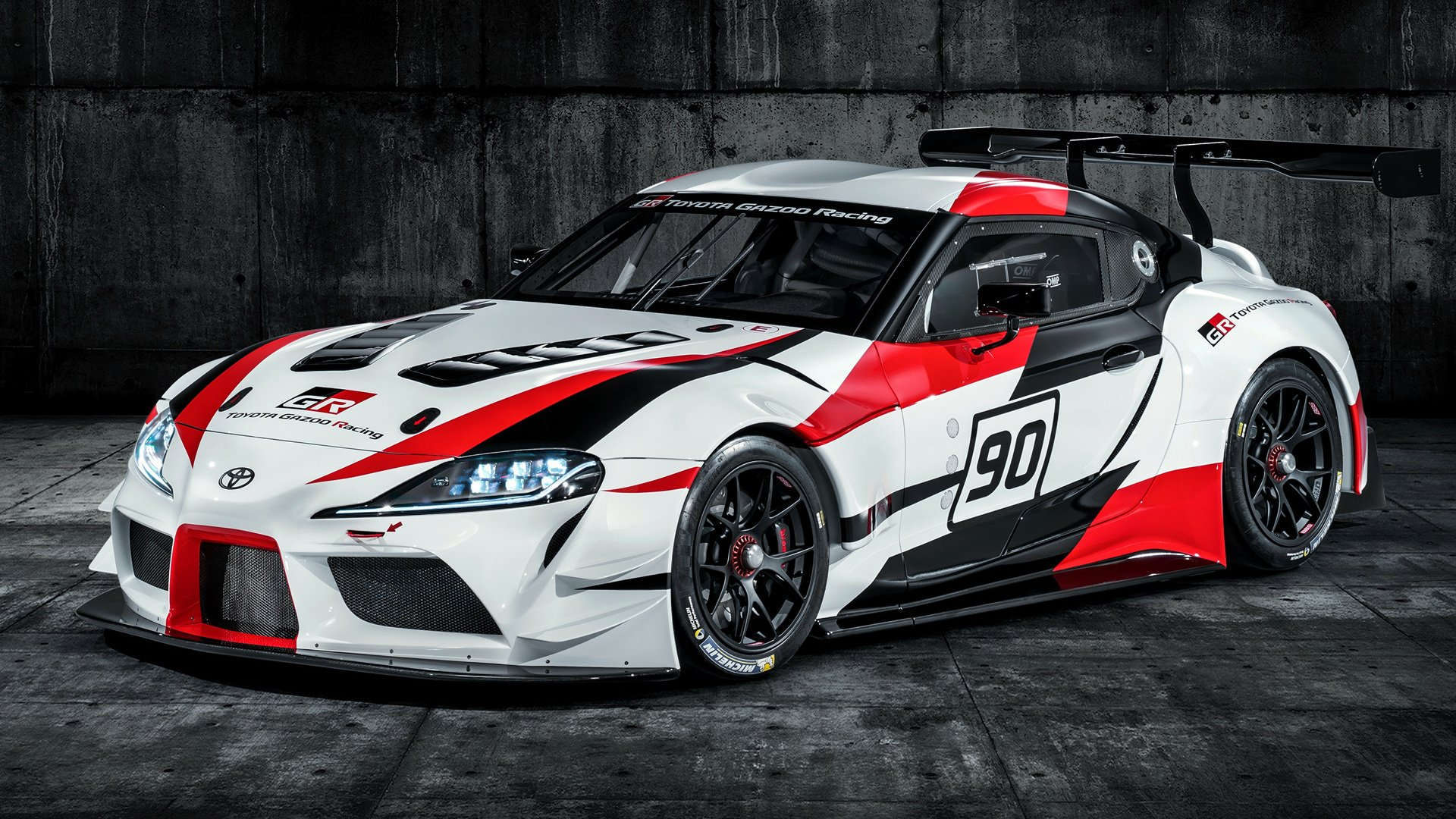 Vehicles Toyota Gr Supra Sport Car Race Car White Car Car Wallpaper