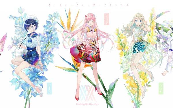 Anime Darling in the FranXX Ichigo Zero Two Ikuno Kokoro Miku HD Wallpaper | Background Image