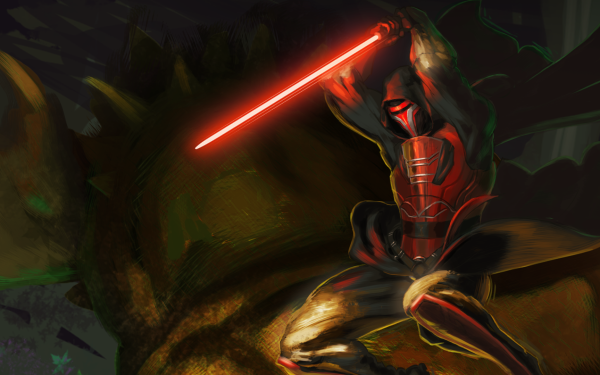 Video Game Star Wars: Knights of the Old Republic Star Wars Lightsaber Revan Darth Revan HD Wallpaper | Background Image