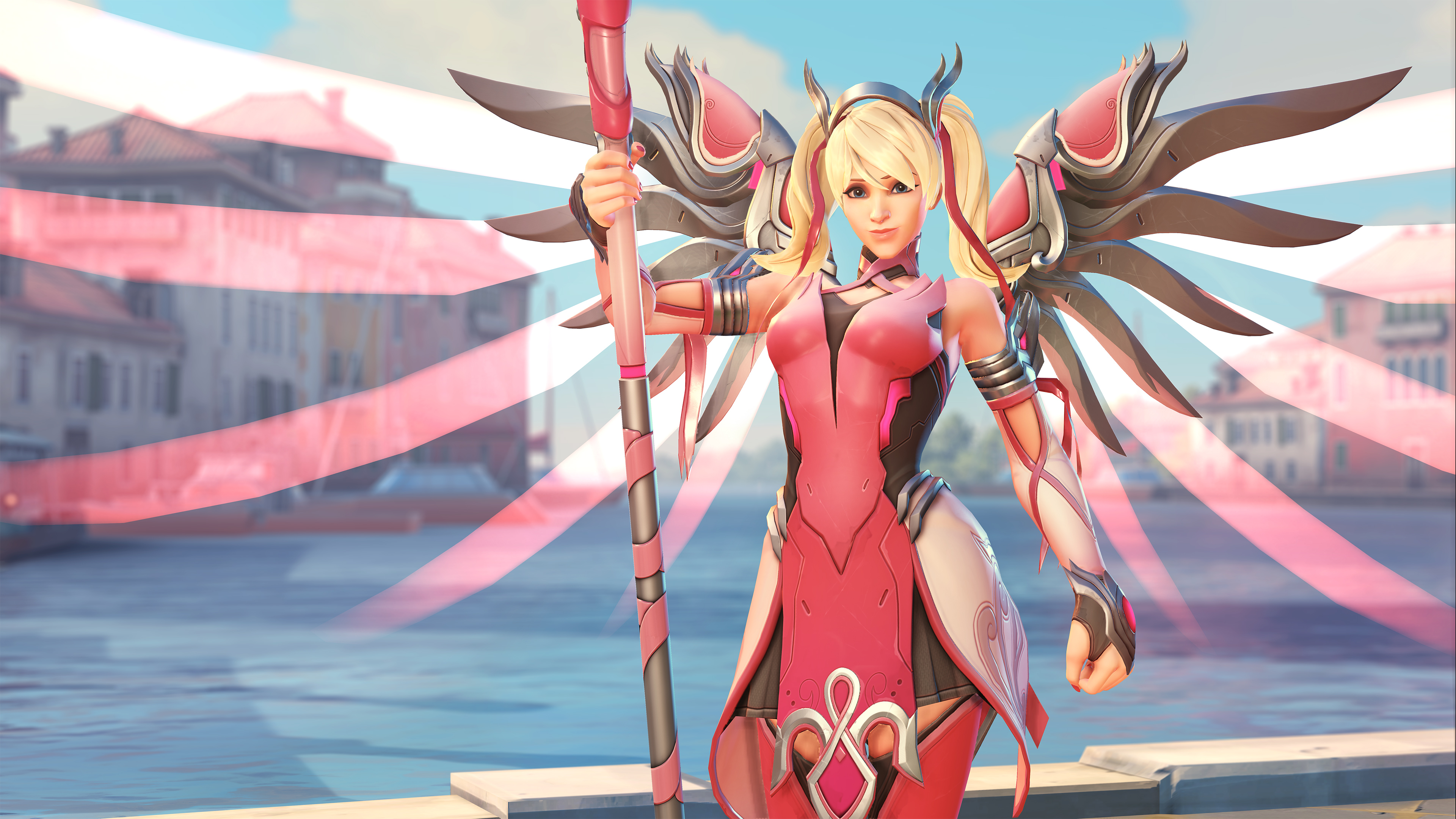 Overwatch Wallpaper Pink Mercy