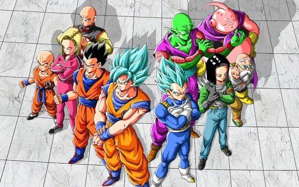 Anime Dragon Ball Super Dragon Ball Krillin Android 18 Tien Shinhan Gohan Goku Vegeta Piccolo Android 17 Master Roshi Majin Buu HD Wallpaper | Background Image
